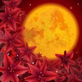 Red flower02 — Stock Vector