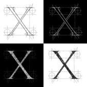 Kapitale X — Stock Vector