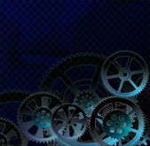 Gears dark blue — Vector de stock