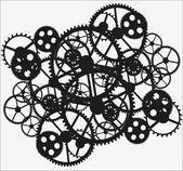 黒い歯車 — ストックベクタ