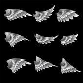 Ve güzel kanatlar — Stok Vektör