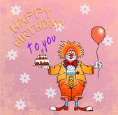 Happy birthday clown05 — Stock Vector