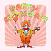 Happy birthday clown03 — Stock Vector