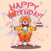 Happy clown02color — Vector de stock