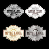 RETRO LABELS07 — Stock Vector