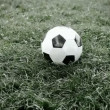 Soccer ball on the field of stadium - 