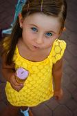 The girl with ice-cream — Stock Photo