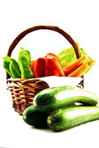 Bag with vegetables — Stock Photo