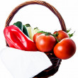Basket with vegetables — Foto Stock