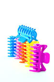 Multi-colored fasteners for hair — Photo