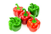 Ripe red and green pepper — Stock Photo