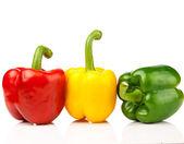 Rot, gelb, grünpfeffer — Stockfoto