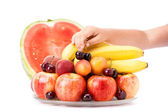 Plate with fruit — Stock Photo