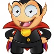Vampire Mascot - Hands On Hips — Stock Photo