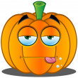 Stock Vector: Jack-o'-Lantern Pumpkin Face - 3