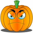Stock Vector: Jack-o'-Lantern Pumpkin Face - 5