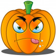 Stock Vector: Jack-o'-Lantern Pumpkin Face - 6