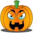 Jack-o'-Lantern Pumpkin Face - 11 — Stock Vector