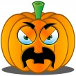 Jack-o'-Lantern Pumpkin Face - 12 — Stock Vector