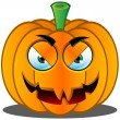Stock Vector: Jack-o'-Lantern Pumpkin Face - 17