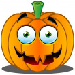 Jack-o'-Lantern Pumpkin Face - 16 — Stock Vector