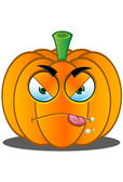 Jack-o'-Lantern Pumpkin Face - 6 — Stock Vector