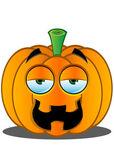 Jack-o'-Lantern Pumpkin Face - 8 — Stock Vector