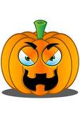 Jack-o'-Lantern Pumpkin Face - 11 — Stock Vector