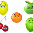 Cartoon Fruit Set 2 — Vector de stock #14156224