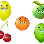 kreslený ovoce sada 2 — Stock vektor