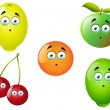 Cartoon Fruit Set 9 — Stock Vector