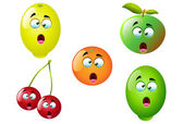 Cartoon Fruit Set 4 — Stockvector
