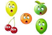 Cartoon Fruit Set 4 — Stock Vector