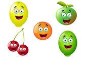 12 karikatür meyve ayarla — Stok Vektör