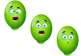 Cartoon Lime Fruit Set 3 — Stock Vector