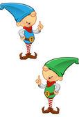Elf Mascot - Having an Idea — Stock Vector