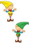 Elf Mascot - Confused — Stock Vector