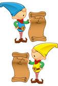 Elf Mascot - Naughty And Nice List — Stock Vector
