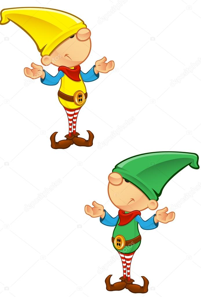 A vector illustration of an Elf looking confused. — Stock Vector #14593083
