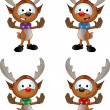 Reindeer Character - Gesturing To Halt — Stock Vector