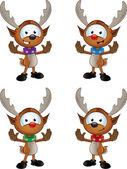 Reindeer Character - Gesturing To Halt — Stock Vector