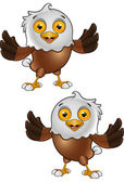 Bald Eagle Character 1 — Vector de stock
