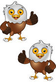 Bald Eagle Character 3 — Vettoriale Stock