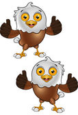 Bald Eagle Character 5 — Stockvector
