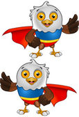 Super Bald Eagle Character 3 — Cтоковый вектор