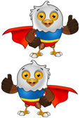 Super Bald Eagle Character 2 — Stock Vector