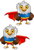 Super Bald Eagle Character - 1 — Cтоковый вектор
