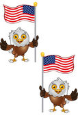 Bald Eagle Character 6 — Stock Vector