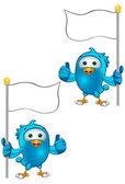 Niebieski ptak znaków — Wektor stockowy