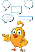 Cartoon Chick Character — Stock Vector